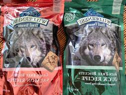 10 bags Blue Wilderness Trail Treats Grain-Free Dog Biscuits