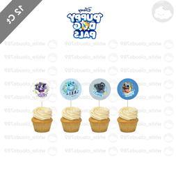 12 Puppy Dog Pals Cupcake Cake Topper Food Pick Favor Party