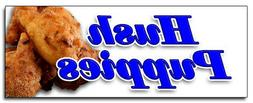 "12"" HUSH PUPPIES DECAL sticker fried batter dough south sout"