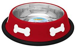 westminster pet products 19216 16 OZ, Red With White Bones,
