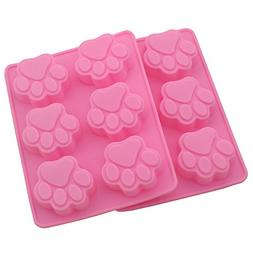 Zicome 6-Cavity Animal Paw Shape Silicone Mold for Making Fr