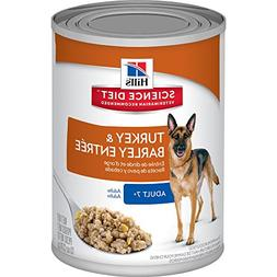 Hill's Science Diet Senior Wet Dog Food, Adult 7+ Turkey & B