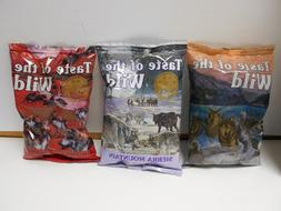 8 bags of Taste of the Wild Dog Food. 6 oz bags. Choose the