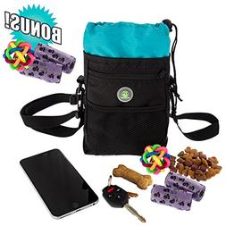Dog Treat Pouch Training Poop Travel Bag with Collapsible Ho