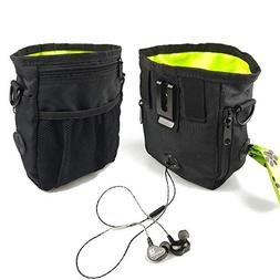 Dog Treat Pouch with 2 Built-in Poop Bag Dispensers - Lightw