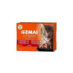Iams Delights Land and Sea Collection in Jelly Cat Food 12 x