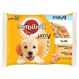 Pedigree Puppy Pouch Chicken, Beef & Rice 4 x 100g