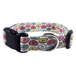 """Pink Donut Dog or Cat Collar for Pets Size Extra Small 5/8"""""""