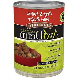 AvoDerm Natural Grain Free Beef and Potato Stew for Adult Do