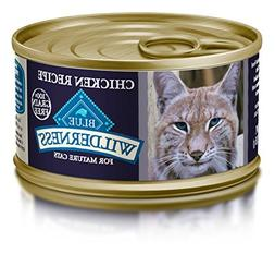 Blue Buffalo Mature Cat Chicken Entree Wet Food, 3 oz Can, P