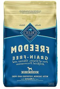 Blue Buffalo Freedom Grain Free Natural Senior Dry Dog Food,
