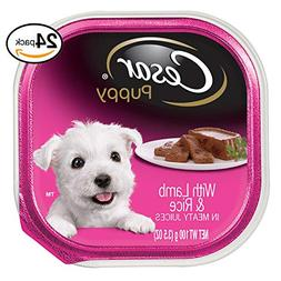 Cesar Canine Cuisine Puppy Wet Dog Food With Lamb And Rice,
