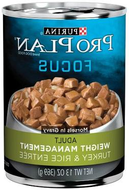 Purina Pro Plan Canned Dog Food Weight Management Turkey & R