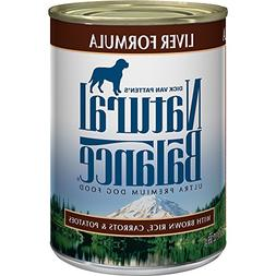 Natural Balance Canned Dog Food, Liver and Rice Recipe, Case