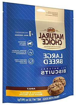 Nutro Natural Choice Large Breed Adult Dog Treats, Chicken A