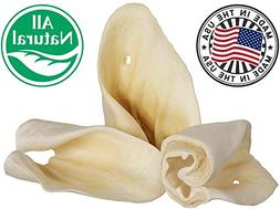 Jumbo Cow Ears For Dogs  Made In USA & Natural | Healthy Bul