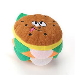 CHOUWUED Delicious Food Design Dog Toys Pet Puppy Chew Squea