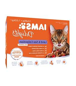 Iams Delights Land and Sea Collection in Gravy Cat Food 12 x