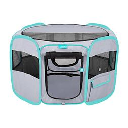 DELUXE PREMIUM Pet Dog Playpen Portable Soft Dog Exercise Pe