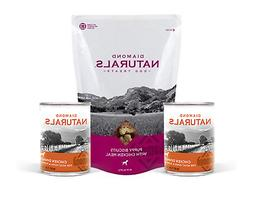 Diamond Naturals Puppy Dog Food 2 Cans of Chicken and 1 Bag