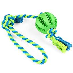 BAODATUI Dog Chew Toy Cotton Rope Ball for Tug of War with Y