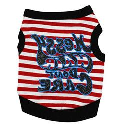 YJYdada Dog Clothing Cotton Stripe T-Shirt Puppy Costume For