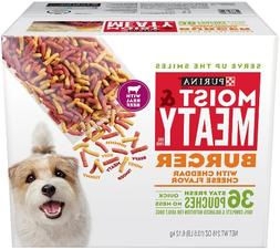 Purina Moist & Meaty Burger With Cheddar Cheese Flavor Adult
