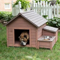 NEW! Large Outdoor Dog House Wooden Kennel Puppy Pet Shelter