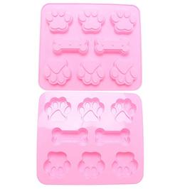 NUOMI Dog Paw/Bone Silicone Baking Molds 2 Pcs Ice Cube Tray