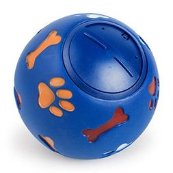 CHOUWUED Dog Toy Rubber Chew Ball Dispenser Leakage Food Pla