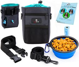 EVOest Dog Treat Pouch, Training Bag with Dog Training Click