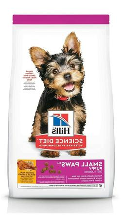 Dry Dog Food Puppy SMALL Paws For Breeds Chicken Meal Barley