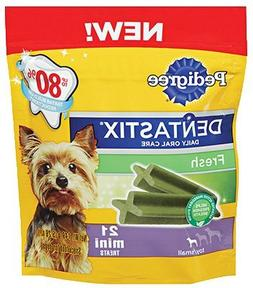 Pedigree Fresh Dentastix 21 Mini Treats Small/Toy Dogs, 5.26