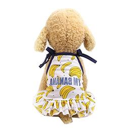 Funic Pet Dress Puppy Dog Cat Princess Dress Lovely Banana P