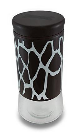 Glass Food Storage Bins And Canisters Brown And White Giraff