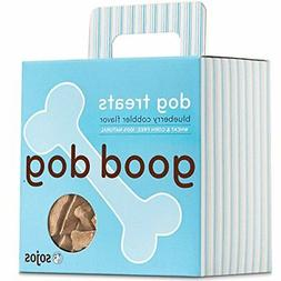 Sojos Good Dog Crunchy Natural Dog Treats, Blueberry Cobbler