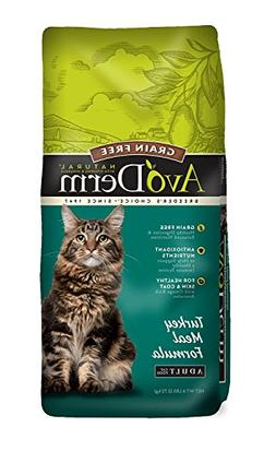 AvoDerm Natural Grain Free Turkey Meal Dry Cat Food, 6-Pound