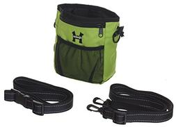 Green Dog Treat Bag - Treat Training Pouch for Small, Medium