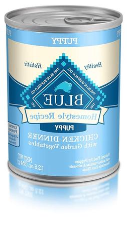 Blue Buffalo Homestyle Recipe Puppy Wet Dog Food, Chicken 12