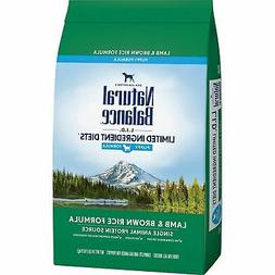 Natural Balance L.I.D. Limited Ingredient Diets Lamb & Brown