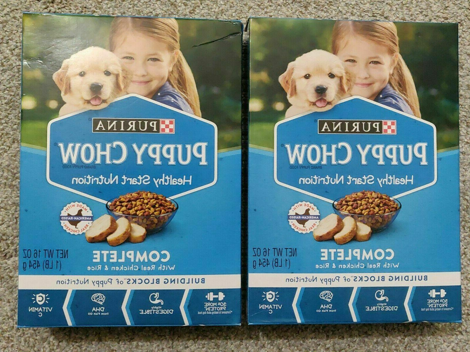 2 BOXES Purina Puppy Chow Complete With Real Chicken Dry Pup