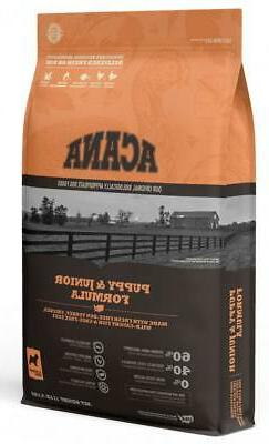 acana heritage puppy and junior formula grain