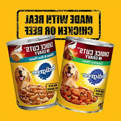 Adult Canned Wet Dog Food Variety Stew and Rice Flavors
