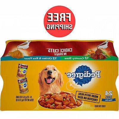 adult canned wet dog food variety pack