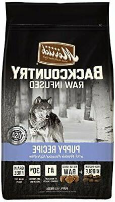 Merrick Backcountry Grain Free Raw Infused Puppy Dry Food, 4