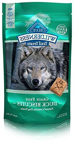 BLUE Wilderness Trail Treats Grain Free Duck Biscuits Dog Tr