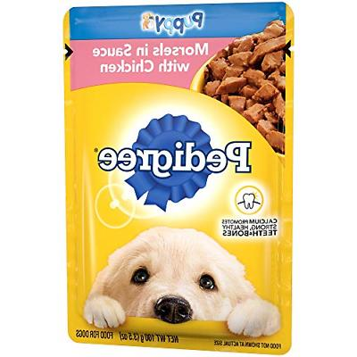 16 pack puppy wet food pouches morsel