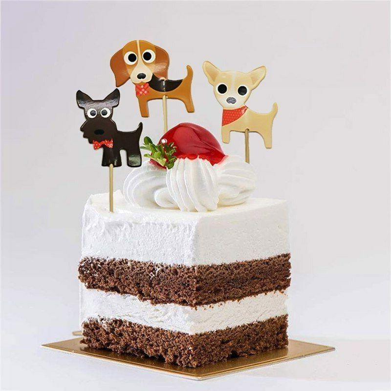 Cute Puppies Cupcake Double-Sided Toppers/Food Picks Set Of 24