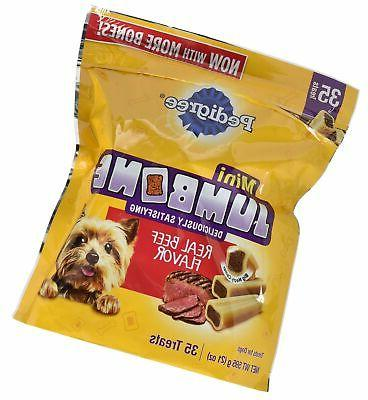 Pedigree Jumbone Real Beef Flavor Mini Dog Treats 35 Treats,