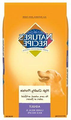 Nature'S Recipe Adult Dog Food Dry, Lamb Meal & Rice Recipe,